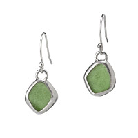 SEA GLASS DROP EARRINGS