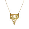 Castillo Gold Dipped Lace Necklace