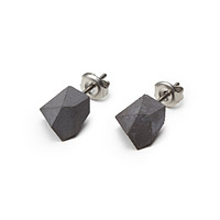 Concrete and Stainless Steel Earrings