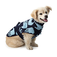 Handprint Dog Sweater and Owner Scarf Set