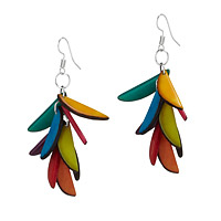 Tagua Fragment Cascade Earrings