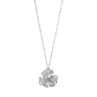 Sterling Poppy Necklace