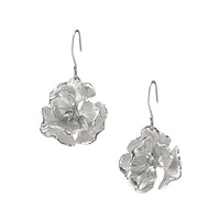 STERLING POPPY EARRINGS