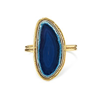 DRAMATIC BLUE AGATE CUFF