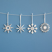 Kitchen Tool Flake Ornaments - Set of 4