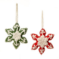 Crocheted Snowflake Ornaments
