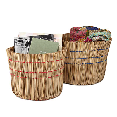 NESTING SWEEP BASKETS - SET OF 2