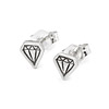 Sterling Silver Diamond Studs