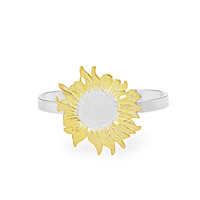 Golden Sunflower Cuff Bracelet