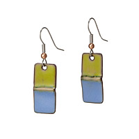 Foldform Enamel Earrings
