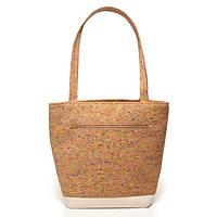 Multicolored Cork Tote Bag