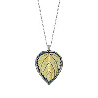 Lemon Balm Leaf Impression Pendant