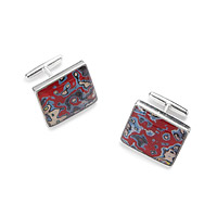 Sterling Graffiti Cuff Links
