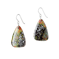 Sterling Graffiti Drop Earrings