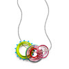 Handblown Glass Trio Necklace