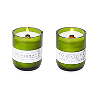 Recycled Wine Bottle Candles