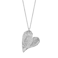 PRECIOUS SILVER DIPPED LACE HEART NECKLACE