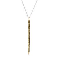 Brass Walking Stick Necklace