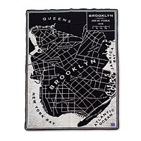 Brooklyn Map Throw