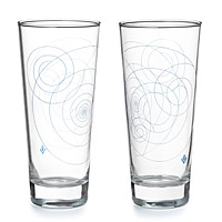 Blue Whirl Glass Set