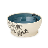 Floral Sketch Serving Bowl