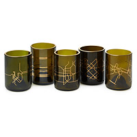Manhattan Subway Map Glass Set