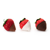 Catnip Chocolate Covered Strawberries - Set of 3