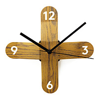 Faux Bois Sticker Clock