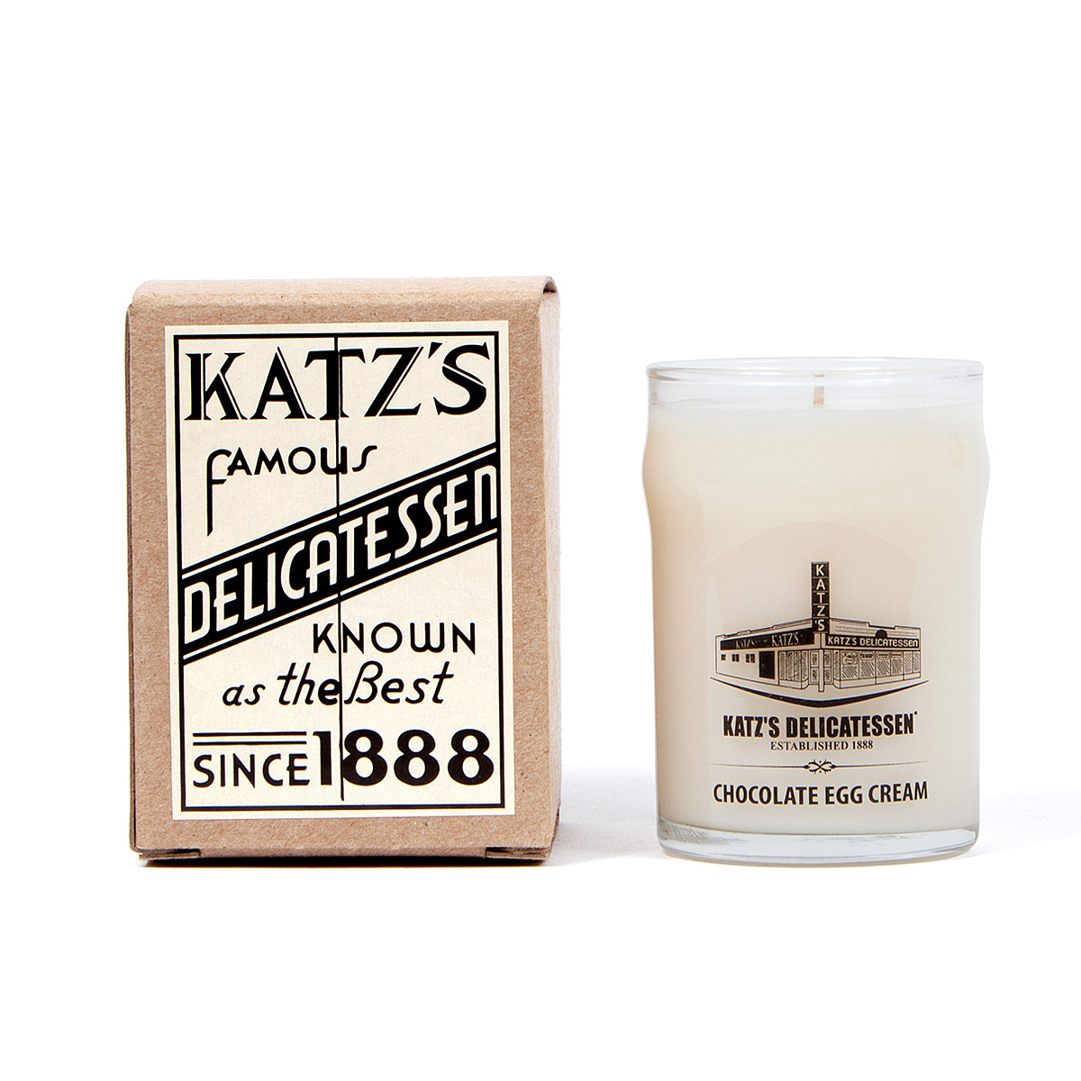 KATZ'S CHOCOLATE EGG CREAM CANDLE | New York, Manhattan, Katz Deli ...