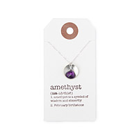 Birthstone Definition Necklace