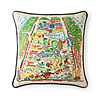 Hand Embroidered Central Park Pillow