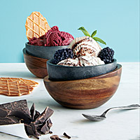 SOAPSTONE ICE CREAM BOWLS - SET OF 2