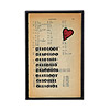 Binary I Love You Vintage Print