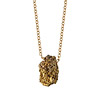 Solitaire Gold Druzy Necklace