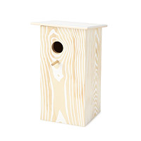 Faux Wood Grain Birdhouse