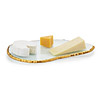 Gold Rimmed Cheese Platter