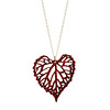 Grape Leaf Pendant - Padauk Wood
