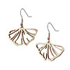 Gingko Leaf Earring - Aspen Wood