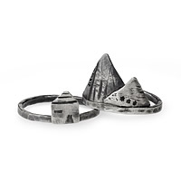 Tiny Village Stacking Rings
