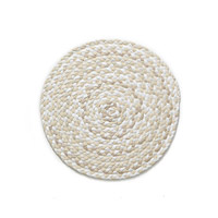 Hand-Braided T-Shirt Rug- Cream