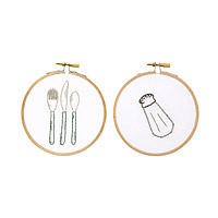 Foodie Duo Embroidery Hoop Art