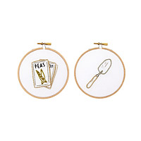 Garden Duo Embroidery Hoop Art