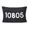 Custom Zip Code Lumbar Pillow