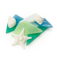 Sea Glass Soap Set