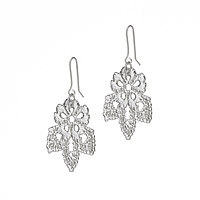POPPY SILVER DIPPED LACE EARRINGS