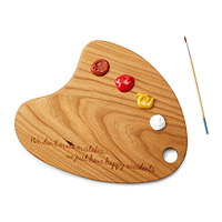 Cherry Wood Painter's Palette