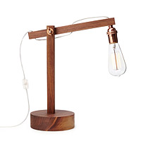 Walnut Swing Arm Lamp