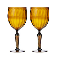 GOLD LEAF UPCYCLED GOBLET SET
