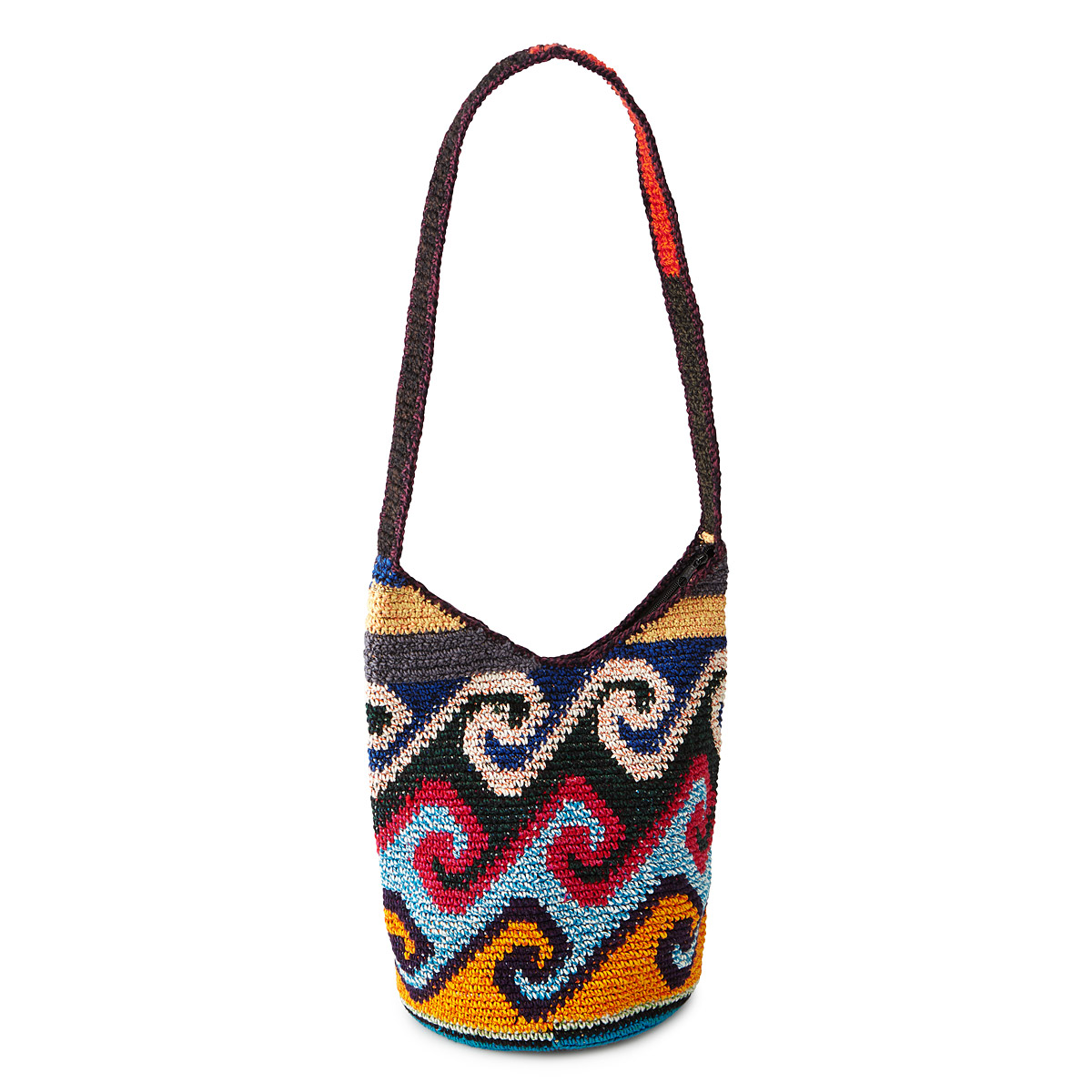 Crochet Shoulder Bag : HAND CROCHETED SHOULDER BAG