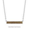 Custom Beach East West Sandbar Necklace